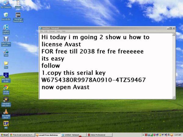 serial number avast free 2018