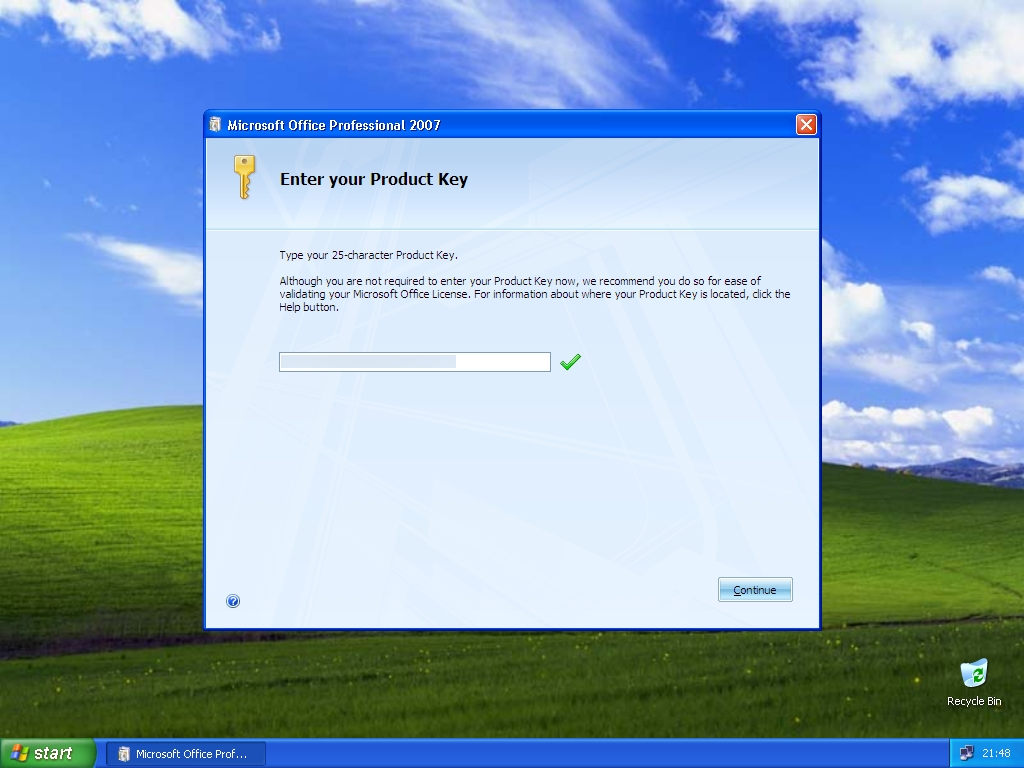 Product Key of Microsoft Office 2007
