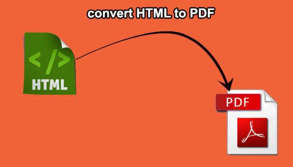 HTML to PDF Files Conversion
